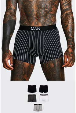 Multi 5 Pack MAN Dash Pinstripe Mid Length Trunk