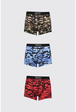 Multi 3 Pack MAN Dash Mixed Camo Mid Length Trunk