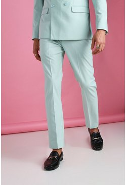 Mint green Skinny Plain Suit Trouser