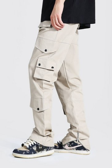 Ecru white Tall Relaxed Fit Twill Cargo Trouser