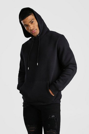 Black Basic Over The Head Hoodie