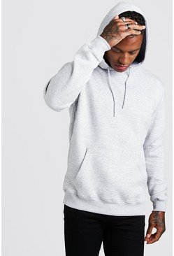 Grey marl grey Basic Over The Head Hoodie