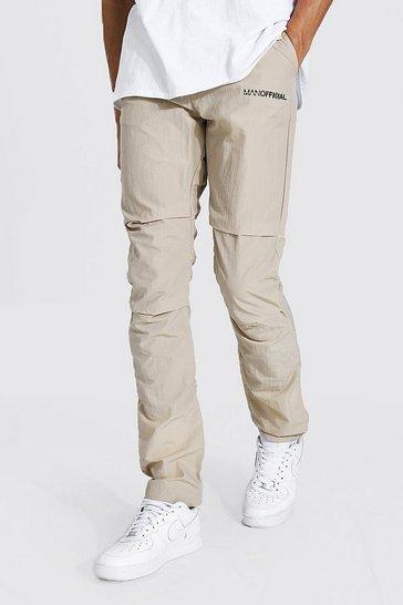 Ecru white Tall Man Official Crinkle Shell Cargo Trouser