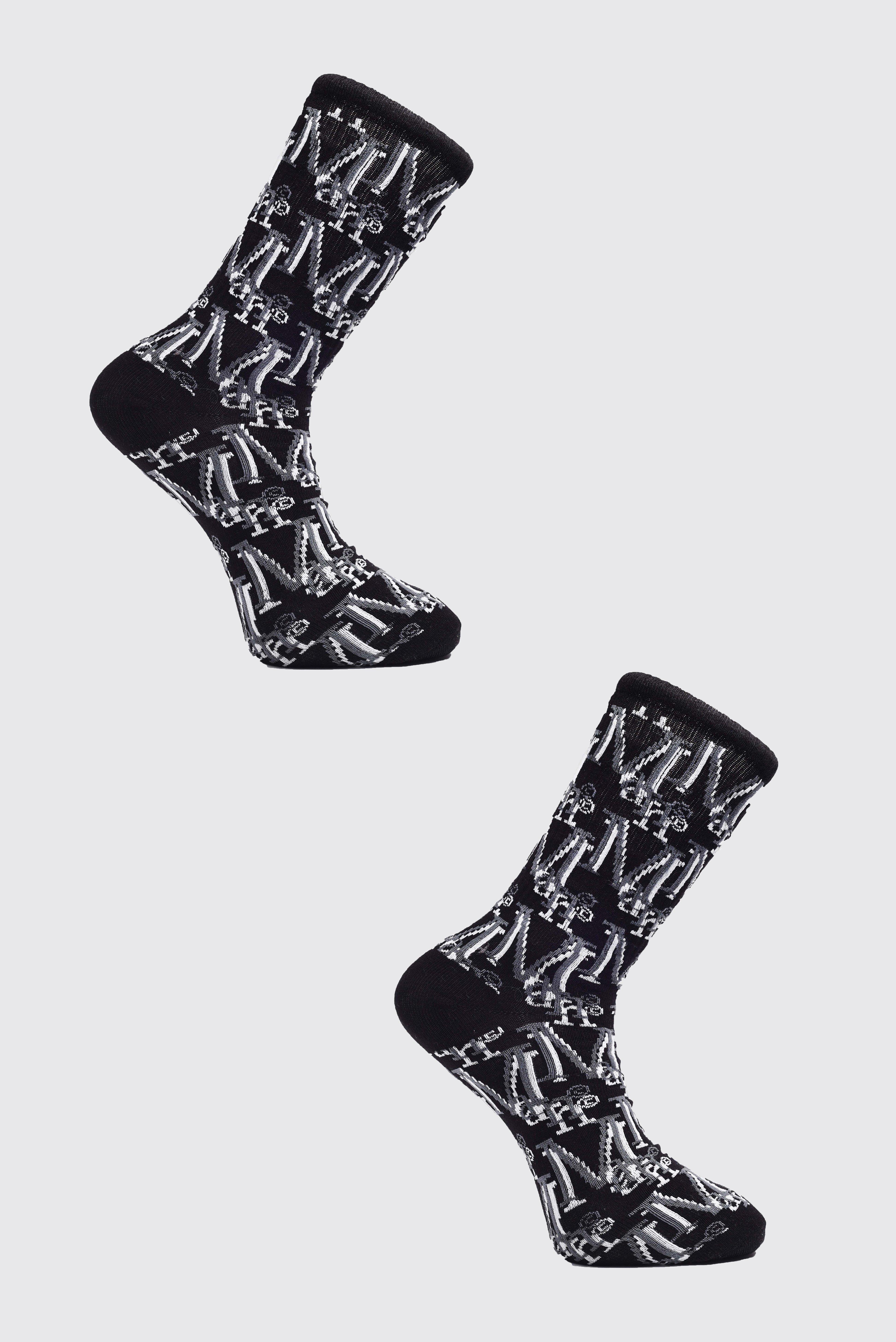 Men's Onesies & Loungewear 2 Pack MAN Monogram Sock