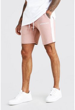 Pink MAN Official Relaxed Fit Shorts With Tape