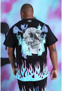 Black Plus Size Loose Fit Quavo Skull T-Shirt