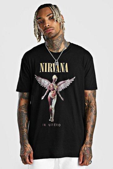 Black Oversized Nirvana License T-Shirt