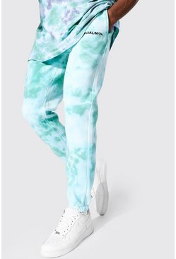 Teal Regular Man Official Tie Dye Joggers