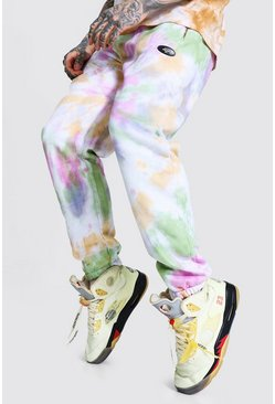 Multi Regular Official Man Tie Dye Zip Joggers