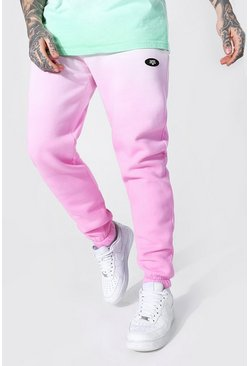 Regular Official Man Ombre Dye Jogger, Pink rosa
