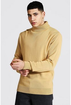 Camel beige Roll Neck Jumper