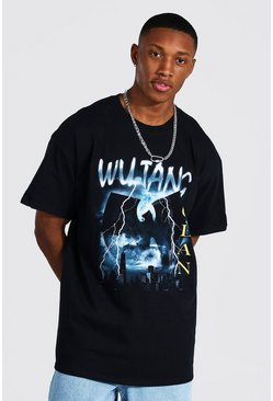 Black Oversized Wu-tang License T-shirt