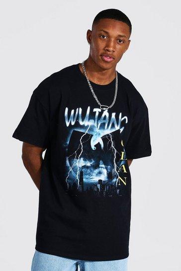 Black Oversized Wu-tang License T-shirt