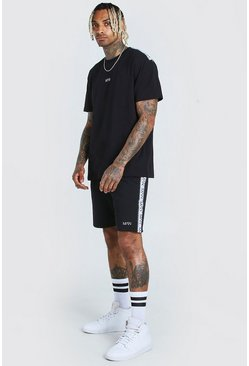 Black Original MAN Tape T-Shirt & Short Set