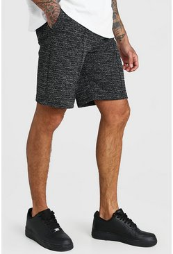Black Boucle Pintuck Shorts