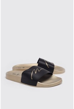 MAN Gold Sliders