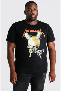Zwart black Plus Size Gelicenseerd Metallica Schedel T-Shirt