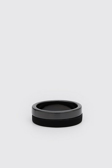 Black Rubberised Ring