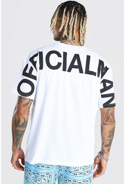 White Oversized MAN Official T-Shirt