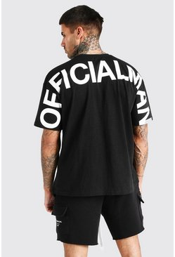 Black Oversized MAN Official T-Shirt