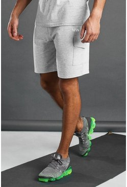 Grey MAN Active Cargo Shorts