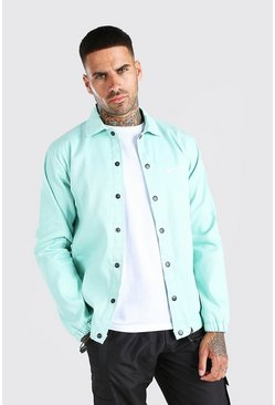 Mint green MAN Official Twill Coach Jacket