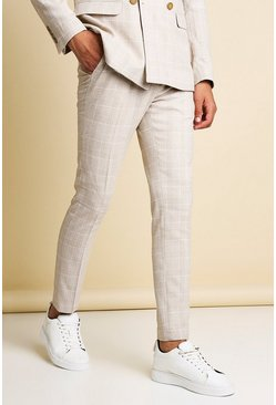 Light pink pink Skinny Check Tailored Trouser