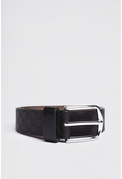 Black Deboss Detail Belt