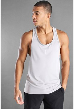 Silver MAN Active Gym Racer Vest