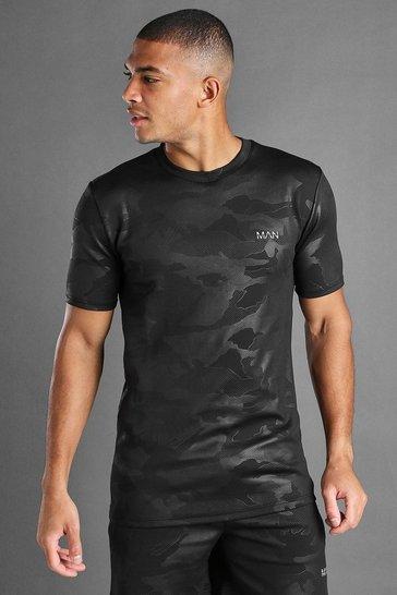 Black Man Active Tonal Camo T-Shirt