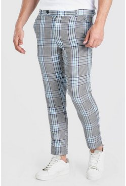 Purple Skinny Check Smart Trouser