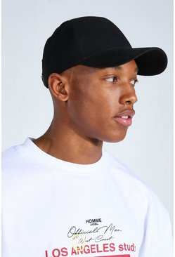 Black Plain Cap