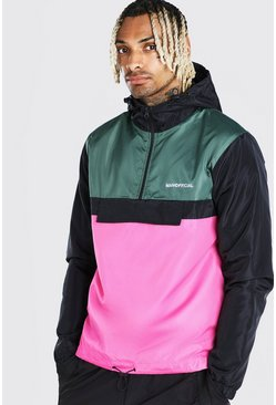 Multi Colour Block MAN Official Overhead Cagoule