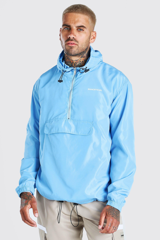 Men's Coats & Jackets MAN Official Back Print Overhead Cagoule