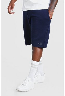 Marineblauw navy Plusmaat MAN basketbal jersey short
