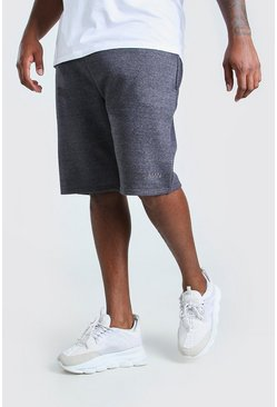 Charcoal grå Big & Tall - Basketshorts i jersey