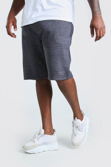 Charcoal grey Plus Size MAN Basketball Jersey Short