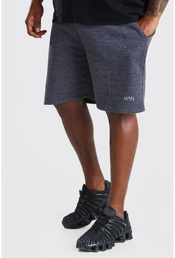 Charcoal Plus Size MAN Mid Length Jersey Short