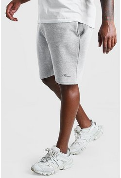 Grey marl grey Big And Tall MAN Script Jersey Short