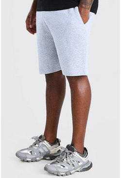 Grey marl Big And Tall Basic Mid Length Jersey Short