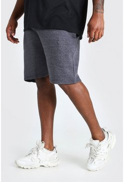 Charcoal grey Plus Size Basic Mid Length Jersey Short