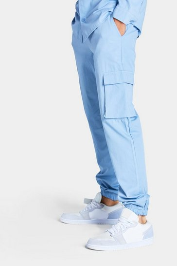 Light blue Utility Pocket Cargo Jogger Trouser
