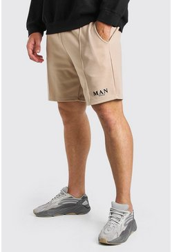 Stone Plus Size MAN Roman Pintuck Scuba Short