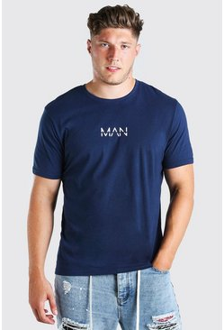 Navy Plus Size MAN Dash T-Shirt