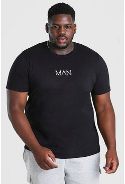 Black Plus Size MAN Dash T-Shirt