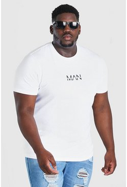 White Plus Size MAN Dash T-Shirt
