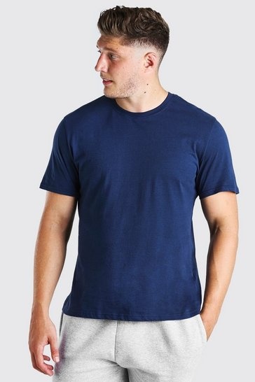Navy Plus Size Basic T-Shirt