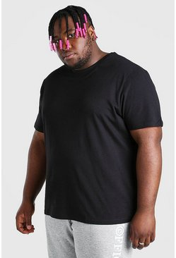 Black Big And Tall Basic T-Shirt