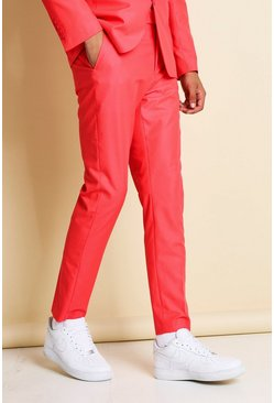 Neon-pink pink Skinny Neon Suit Trousers