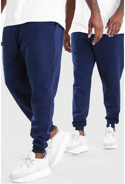 Navy Plus Size 2 Pack Skinny Fit Jogger